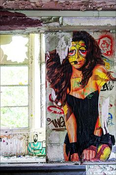 ABANDONED ART ♦ Swanky Location ♦ Berlin Street Art Utopia, 3d Street Art, Amazing Street Art, Street Art Graffiti, Street Artists, Urban Graffiti, Graffiti Murals, Sidewalk Art, Land Art