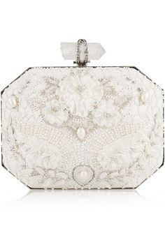 Beautiful bridal clutch by Marchesa
