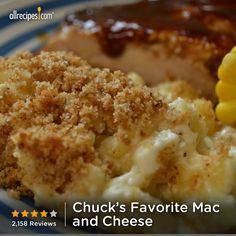 "Chuck's Favorite Mac and Cheese | ""Just served this at my son's second birthday party and it was a huge hit! Best Mac 'n Cheese ever! I made it exactly as written and everyone wanted the recipe to take home with them!"""
