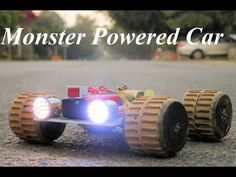 How To Make a Monster truck - electric truck Remote Control Cars, Radio Control, Monster Car, Monster Trucks, Recycled Toys, Electric Truck, Foam Cutter, Air Car