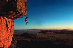 Holy hell... Stefan Glowacz solo climbing Kachoong at Mt. Arapiles, Australia