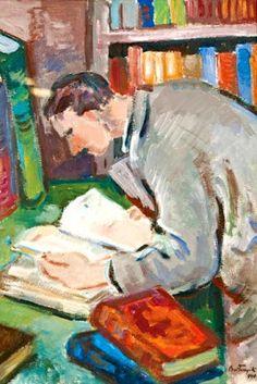 Bortnyik, Sándor (1893-1976) Olvasó férfi, 1940