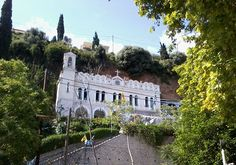 Church of Panagia Tripiti the Life Giving Spring in Aigio - Panagia Trypiti - Wikipedia, the free encyclopedia Greece, Mansions, House Styles, Places, Byzantine, Life, Spring, Greece Country, Fancy Houses