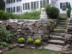 Natural Path Landscaping, LLC provides Landscape and Garden design and installation for residential properties in the Foxboro, Massachusetts area, Landscaping With Boulders, Residential Landscaping, Fire Pit Seating, Outdoor Spaces, Outdoor Decor, Farm Barn, Bouldering, Paths, Terrace