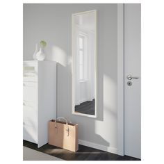 Look what I've found at IKEA - full lenth mirror At Home Furniture Store, Modern Home Furniture, Affordable Furniture, Ikea Nissedal, Tall Cabinet Storage, Locker Storage, Ikea Mirror, Diy Mirror Decor, Mirror Ideas