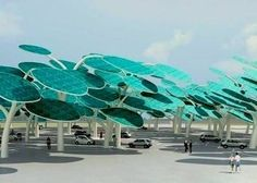 Solar Forest Keeps Cars Cool And Juiced : TreeHugger