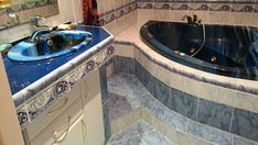 Výsledek obrázku pro modrá  koupelna