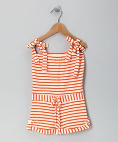 Orange Stripe Organic Romper by Scout Collection on #zulily