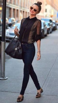 Street urban chic style, Miranda Kerr is the best at it !