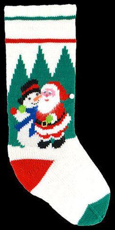 Kits for hand knitting Knitted Christmas Stocking Patterns, Christmas Charts, Crochet Stocking, Christmas Stocking Kits, Knitted Christmas Stockings, Xmas Stockings, Christmas Knitting, Stocking Ideas, Knitting Kits