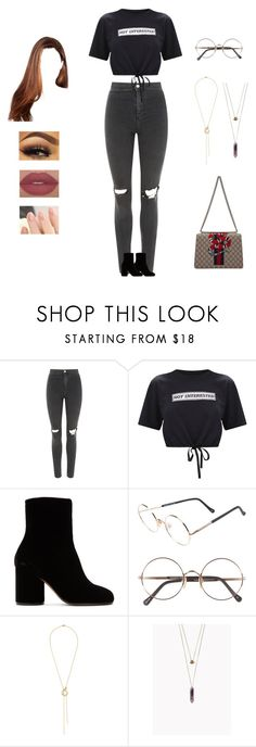 """""""Dean - instagram"""" by kyndraxsvt ❤ liked on Polyvore featuring Topshop, Maison Margiela, Sunday Somewhere, Alice Cicolini and Gucci"""