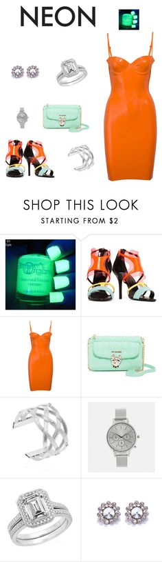 """Neon"" by edith-a-giles ❤ liked on Polyvore featuring Pierre Hardy, Love Moschino and Avenue"