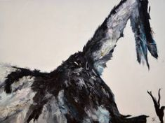 "Saatchi Art Artist Nicole Theresia Spitzwieser; Painting, ""Geier"" #art Vulture, Bald Eagle, Saatchi Art, Original Paintings, Artist, Artists"