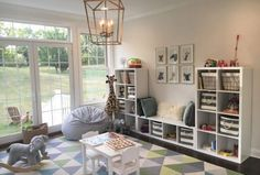 Adorable Basement Playroom Decorating Ideas Adorable Keller Spielzimmer Deko-Ideen This image has get. Small Playroom, Modern Playroom, Toddler Playroom, Office Playroom, Playroom Design, Playroom Decor, Boys Playroom Ideas, Basement Ideas, Basement Play Area