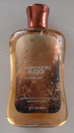 Bath and Body Works Warm Vanilla Sugar Signature Collection Shower Gel, 10 oz, new packaging Bath & Body Works