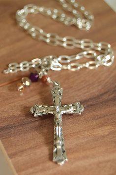 Religious Catholic Jewelry Vintage Crucifix by FifteenMagpieLane