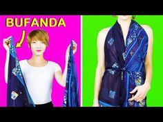 Fashionalbe Ways to Tie Your Scarf to Look Amazing - DIY Discovers Diy Clothes Life Hacks, Clothing Hacks, Kendall, Jean Destroy, Diy Fashion Hacks, Scarf Tutorial, Diy Vetement, Scarf Top, Girl Life Hacks