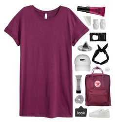 """""""berry nice"""" by swirling-dreams ❤ liked on Polyvore featuring H&M, Fjällräven, NARS Cosmetics, Stila, Boohoo, Jack Wills, Zoemou, Maybelline and ULTA"""