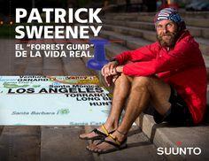 """Patrick Sweeney  Conoce a nuestro atleta Patrick Sweeney el """"Forest Gump"""" de la vida real, que recorrió todo Estados Unidos en 114 días con una distancia diaria aproximada de 47 K."""