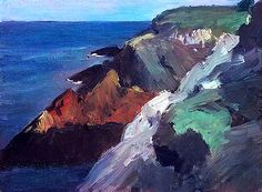 Edward Hopper, Untitled (Rocky Shore), 1916-1919