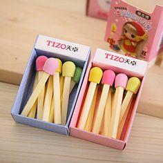 Cute Matchstick Pattern Eraser(Random Colors) – USD $ 1.79