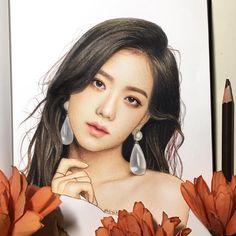 original_title] – ♡Barbie Stargirl♡ – Join in the world of pin Kpop Drawings, Ink Drawings, Chica Dark, Realistic Rose, Barbie, Celebrity Drawings, Fan Art, Color Pencil Art, Blackpink Jisoo
