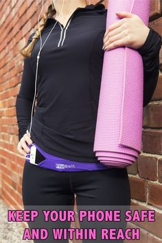 An easy way to hold your phone or iPod while you head to yoga class, jog, walk, or work out Planet Fitness Workout, Fitness Tips, Fitness Motivation, Health Fitness, Fitness Gear, Running Belt For Phone, Best Running Belt, Flip Belt, Workout Belt