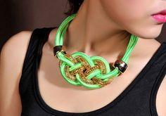Naszyjnik Neonowy NEON Sznur KOLIA choker EdiBazzar Jewelry Knots, Jewellery, Rope Chain, Jewelry Shop, Washer Necklace, Cord, Crochet Necklace, Chokers, Neon