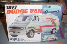 Plastic Model Kits, Plastic Models, Car Box, Model Car, Box Art, Trailers, Dodge, Boxes, Van