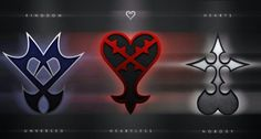 Kingdom Hearts the Unversed, Heartless, and Nobody symbols