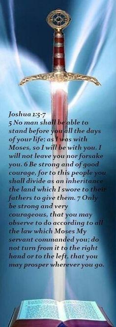 Joshua 1:5-7