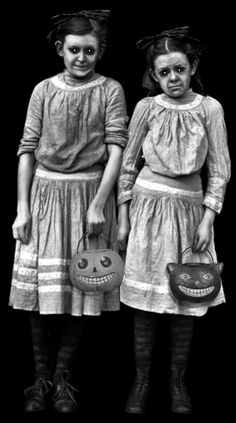 VINTAGE HALLOWEEN- is it just me or were halloween costumes extremely creepy back then?