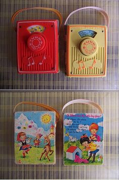 Fisher Price Wind Up Radios - 1960's.