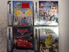 Shrek the Third, cars, hey arnold!  Nintendo Game Boy Advance lot of 4 sealed