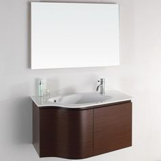 furniture astounding vanity for a small bathroom with oval porcelain undermount sink and single hole faucet using polished chrome finish above floating cabinets on dark wood veneer
