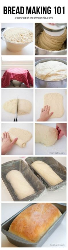 Learn how to make homemade bread like a pro on I Heart Nap Time with a step by step tutorial for beginners