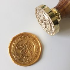 Calligraphy Wedding wax seal stamp A&K 21.07.18
