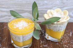 Chia Puding, Cantaloupe, Healthy Recipes, Healthy Food, Panna Cotta, Mango, Pudding, Fruit, Ethnic Recipes