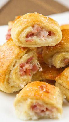 HAM & CHEESE PRETZEL BITES. Make this into a casserole with a pretzel top like a pot pie.