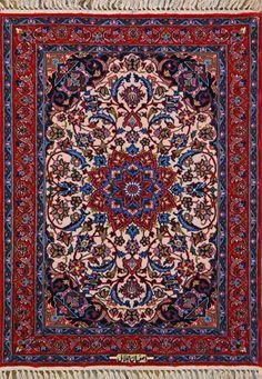 Esfahan Persian Rug, Buy Handmade Esfahan Persian Rug 2 4 x 3 2, Authentic Persian Rug $1,280.00