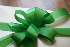 How to make a fancy ribbon bow for Christmas presents.