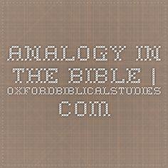 ANALOGY IN THE BIBLE | OxfordBiblicalStudies.com