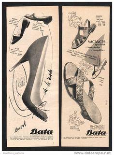 Bata Advertising, France (circa 1950) #batashoes #bata120years #advertising