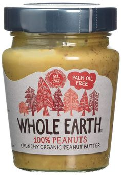 Whole Earth Organic Crunchy Palm Oil Free Peanut Butter 227 g (Pack of Organic Peanut Butter, Best Peanut Butter, Chocolate Pizza, Jasmine Essential Oil, Good Source Of Fiber, Whole Earth, Love Pizza, Orange Oil, Slice Of Bread