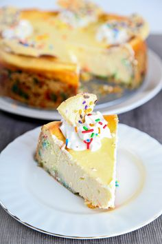 Cake Batter Cheesecake | CLICK ON for other RECIPES!