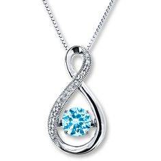 Colors in Rhythm Necklace Blue Topaz Sterling Silver ($109) ❤ liked on Polyvore featuring jewelry, necklaces, blue topaz necklace, blue topaz pendant, round pendant necklace, sterling silver box chain necklace and pendant jewelry