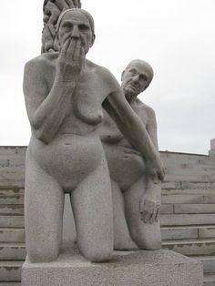 sculpture in Oslo`s Vigeland Park, Norway.