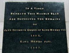 """Henry VIII. & Jane Seymour """"Tomb"""" St. George's Chapel Windsor Castle"""