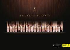 Living Harmony. http://humanpiano.org Amnesty International Advertising Agency: Grey, Istanbul, Turkey Executive Creative Directors: Ergin Binyild