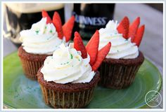 Chocolate Drunken Strawberry Cupcakes with White Chocolate Buttercream